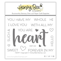 Honey Bee Stamp Heart