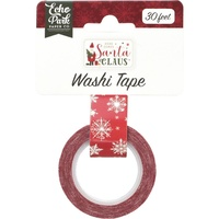 Echo Park Here Comes Santa Claus Decorative Tape Snowy Sleigh Ride