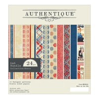 "Authentique 6x6"" Double Sided Cardstock Pad Honor 24pg"