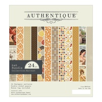 "Authentique 6x6"" Double Sided Cardstock Pad Harvest 24pg"