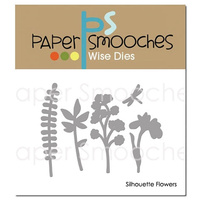 Paper Smooches Die Silhouette Flowers