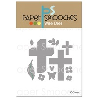 Paper Smooches Die 3D Cross