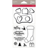 Jillibean Soup Shakers Stamp & Die Set Be Merry