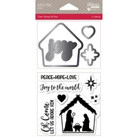 Jillibean Soup Shakers Stamp & Die Set Adore Hime
