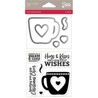 Jillibean Soup Shakers Stamp & Die Set Hugs & Kisses