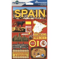 Reminisce Jet Setters Dimensional Stickers Spain