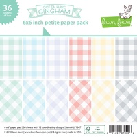 "Lawn Fawn Gotta Have Gingham 6x6"" Petite Paper Pad"