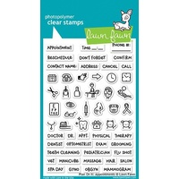 Lawn Fawn Clear Stamp Plan On It : Appointments