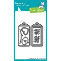 Lawn Fawn Lawn Cuts Die Say What? Gift Tags