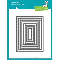 Lawn Fawn Lawn Cuts Die Just Stitching Double Rectangles