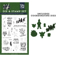 Echo Park Lost in Neverland Stamp & Die Combo Set Never Grow Up