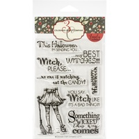 Colorado Craft Company Lovely Legs Stamp Best Witches