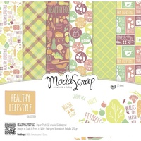 "Elizabeth Craft Designs 12x12"" Paper Pack Healthy Lifestyle 12pk by Modascrap"