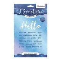 Hunkydory Moonstone Stamp & Die Combo Essential Words Hello