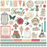 "PhotoPlay Paper Moments in Time 12x12"" Elements Stickers"