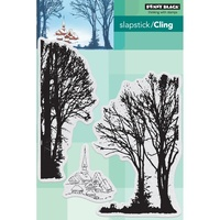 "Penny Black Clear Stamp 5x7"" Snowy Village"