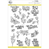 Pinkfresh Studio Clear Stamp Bloom & Grow