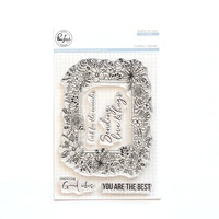 Pinkfresh Studio Clear Stamp Floral Frame