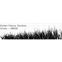 Picket Fence Studios Clear Stamp Grass