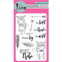 "Pink & Main Clear Stamp Set 4x6"" My Tribe"