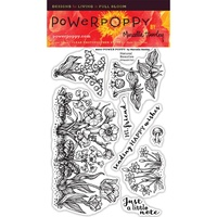 "Power Poppy Clear Stamp 4x6"" Natural Beauties"
