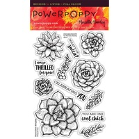 "Power Poppy Clear Stamp 4x6"" Succulent Singles"