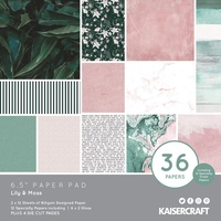 "Kaisercraft Lily and Moss 6.5"" Paper Pad"
