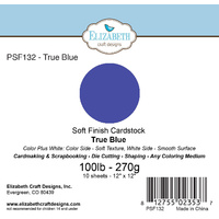 "Elizabeth Craft Designs Soft Finish Cardstock 12x12"" 10pk True Blue"