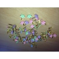 Print Blocks Brads Small Pastel Stars Approx 100