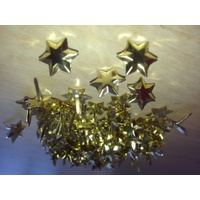 Print Blocks Brads Flat Top Faceted Gold Star approx 100