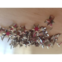 Print Blocks Brads Flat Top Faceted Silver Stars Approx 100