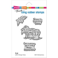 Stampendous Cling Rubber Stamp Manger Sheep