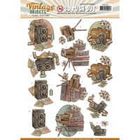 Find It Trading Vintage Objects Punchout Sheet Vintage Camera