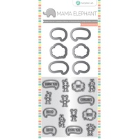 Mama Elephant Stamp & Die Set Chit Chat