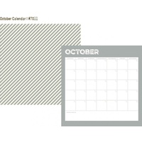 Simple Stories Life Documented Paper October Calendar