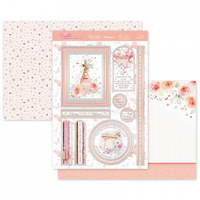 Hunkydory Window to the Heart Shimmering Sentiments Luxury Card Topper Set Time to Celebrate