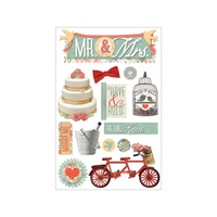 Paper House 3D Stickers Mr & Mrs