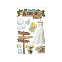 Paper House 3D Stickers Wedding