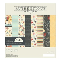 "Authentique 6x6"" Double Sided Cardstock Pad Studious One 24pg"