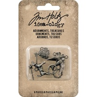 Idea-Ology Adornments Treasures, Charms & Accents 8p by Tim Holtz