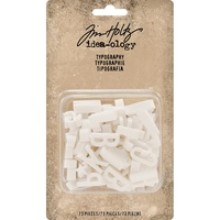 Idea-Ology Typography Plastic Alphabet 73pc by Tim Holtz