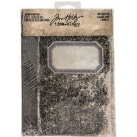 Idea-Ology Worn 2 Ring Binder Notebook Printed Fabric Cover by Tim Holtz