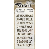 Stampers Anonymous Layered Stencil Christmas by Tim Holtz