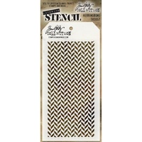 Stampers Anonymous Layered Stencil Herringbone by Tim Holtz