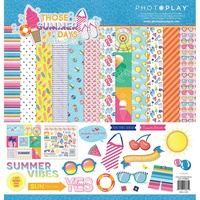 "PhotoPlay Paper Those Summer Days 12x12"" Collection Kit with Sticker Sheet"