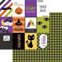 "PhotoPlay Paper Trick or Treat 12x12"" Paper Happy Boo Day"