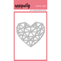 Uniquely Creative Die Geometric Heart
