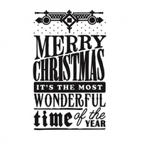 "Ultimate Crafts White Christmas 5x7"" Embossing Folder Christmas Wonder"