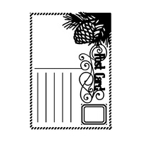 "Ultimate Crafts White Christmas 5x7"" Embossing Folder Christmas Post"