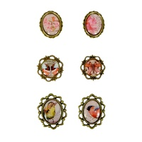 Ultimate Crafts Metal Framed Trinkets & Cabochons L'Aquarelle 6pc